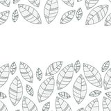 Cadre horizontal de feuilles Ornement pour la copie, carte, papier peint, bannière illustration de vecteur