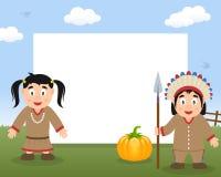 Cadre horizontal de thanksgiving d'Indiens Photos libres de droits