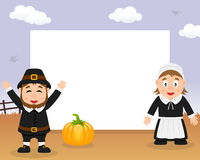 Cadre horizontal de thanksgiving de pèlerins Image stock