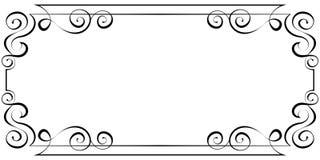 Cadre horizontal de vecteur Élément pour la conception Photographie stock