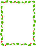 Cadre/houx de Noël Photo libre de droits