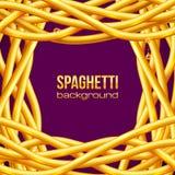 Cadre huileux de spaghetti de vecteur Photo stock