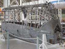 Cadre intérieur de cabine passagers de zeppel dirigeable antique Images stock