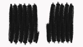 Cadre - la transition abstraite de courses de pinceau indiquent avec Alpha Channel banque de vidéos