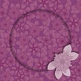 Cadre lilas Photos libres de droits