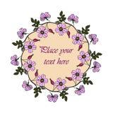 Cadre lilas d'églantier Photo libre de droits