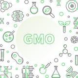 Cadre linéaire génétiquement modifié de concept de vecteur d'organisme illustration stock