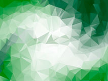 Cadre lumineux vert de vecteur de fond de polygone de triangle Photo stock