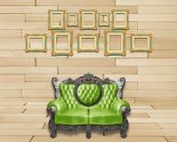 Cadre luxueux de fauteuil et de vintage Photos libres de droits