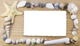 Cadre marin avec la carte d'isolat Photographie stock