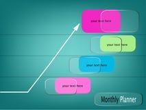 Cadre mensuel en verre de planificateur Photographie stock