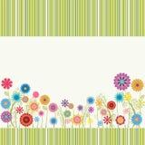 Cadre mignon avec des fleurs Photographie stock