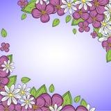 Cadre mignon avec des fleurs Image stock