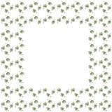 Cadre mignon de frontière de fond avec la grille de feuilles illustration libre de droits