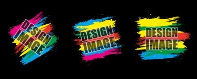 Cadre moderne coloré réglé Éléments dynamiques de conception pour un insecte, Photos stock
