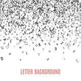 Cadre noir abstrait d'ornement d'alphabet sur le fond blanc Image libre de droits