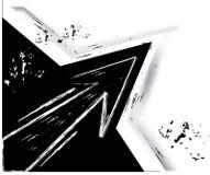 Cadre noir d'éclaboussure de flèche Images libres de droits