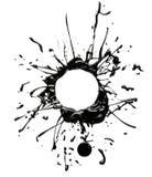 Cadre noir d'éclaboussure de peinture sur le blanc photo libre de droits