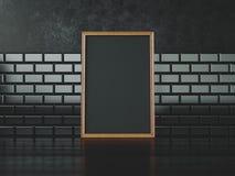 Cadre noir d'affiche rendu 3d Photographie stock