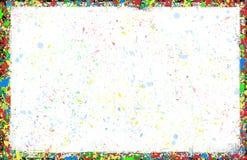 Cadre noir d'encre coloré d'éclaboussure Photos stock