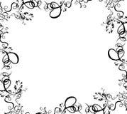 Cadre noir de feuillage illustration de vecteur