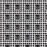 Cadre noir de mosaïque avec le fond gris de modèle de triangle d'ombre Photos stock