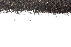 Cadre noir de sésame Photo libre de droits