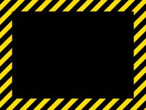 Cadre noir jaune Photo stock