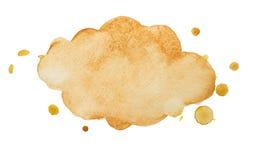 Cadre-nuage d'aquarelle Images libres de droits