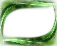 Cadre ondulé floral de source verte Photographie stock