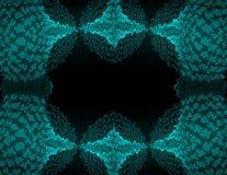 Cadre onduleux bleu vert de frontière Photo libre de droits