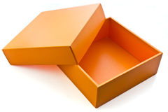 Cadre orange Photographie stock libre de droits