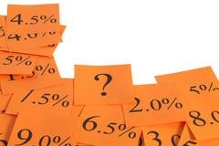 Cadre orange chaud de taux d'intérêt Photo stock