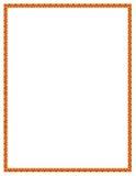 Cadre orange de fleur Photographie stock libre de droits