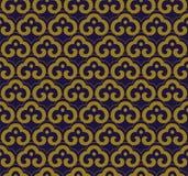 Cadre oriental ch de croix de spirale de courbe de fond sans couture antique Photo libre de droits