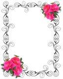 Cadre ornemental d'invitation rose de roses illustration de vecteur