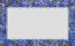 Cadre ou frontière en verre de style Image stock