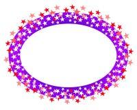 Cadre ou logo ovale 2 d'étoiles Images libres de droits