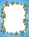 Cadre ou trame bleu de guindineau illustration de vecteur