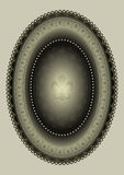Cadre ovale avec le lis héraldique Image libre de droits