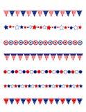 Cadre patriotique de diviseur Image libre de droits