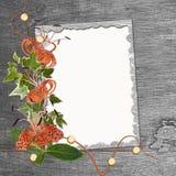 Cadre pour l'invitation ou la félicitation. Illustration de Vecteur
