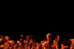 Cadre réaliste de mouvement de brûlure de flammes du feu Photographie stock libre de droits