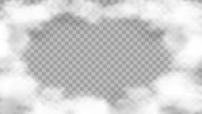 Cadre réaliste de nuage sur le fond transparent illustration de vecteur