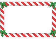 Cadre rayé rouge et blanc Photographie stock libre de droits