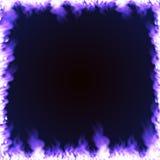Cadre rectangulaire entouré avec la flamme bleue Images libres de droits