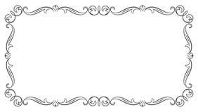 Cadre rectangulaire fleuri Images stock