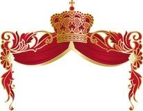 Cadre richement décoré avec la couronne et le manteau Images libres de droits