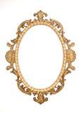 Cadre rococo décoratif de jeune truie d'or Photographie stock libre de droits
