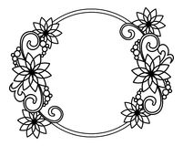 Cadre rond élégant avec des découpes des fleurs o Photos libres de droits